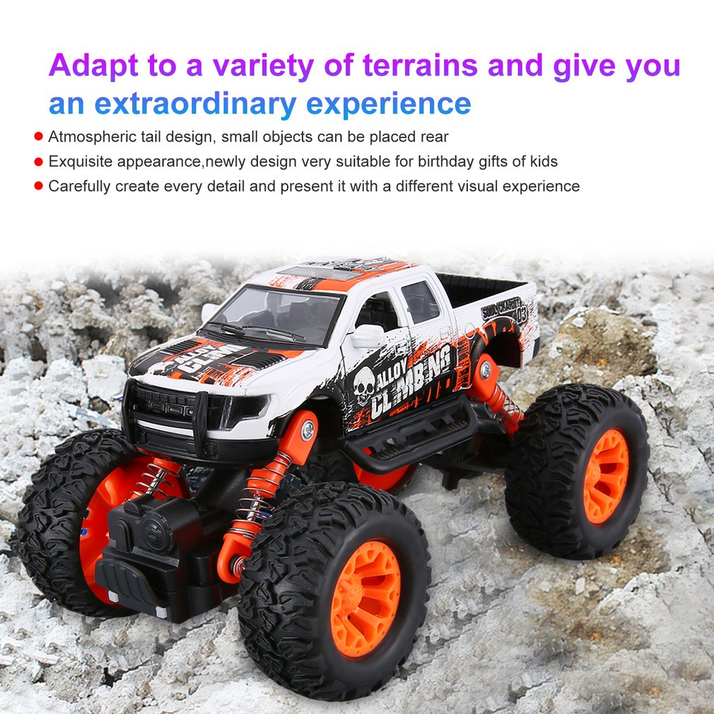 Metal Diecast Alloy Truck SUV Model Car Off-Road Vehicle Climbing Car Pull Back Sliding Car Toy Educational Toys For Boys Kids
