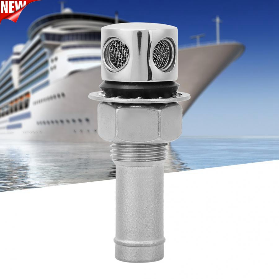 Straight Fuel Breather Vent Gas Vent 316 Stainless Steel Boat Cabin Oiling Fueling Port Vent