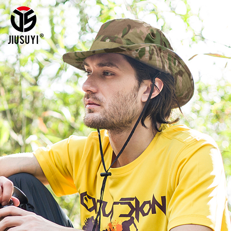 Multicam Tactical Airsoft Sniper Camouflage Bucket Boonie Hats Nepalese Cap SWAT Army Panama Military Accessories Summer Men 2