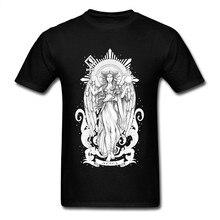 Maglietta da uomo stampata ariete T-Shirt con segno zodiacale maglietta in cotone 100% top neri Retro God Tees felpe alla moda XXXL