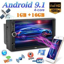 A2 Upgrade Mobil Radio 2 DIN Android 9.1 Car Stereo 7 Inch Quad Core GPS Navigasi Bluetooth WIFI USB Radio receiver Head Unit(China)