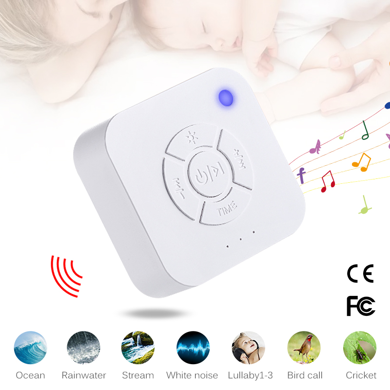 Baby White Noise Machine USB Rechargeable Timed Shutdown Sleep Sound Machine Sleeping Relaxation Monitor For Baby Adult Office
