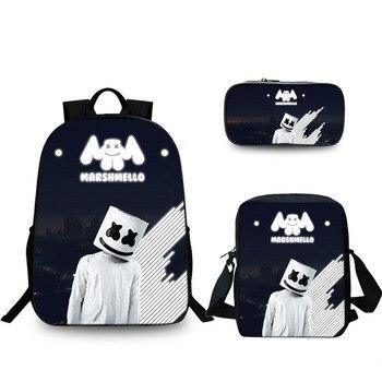 3PCS Backpack Men Pencil Case DJ Shoulder Bag Waterproof SchoolBag Student Backpacks Travel Laptop Bag Birthday Gifts dj bag palmin u 15