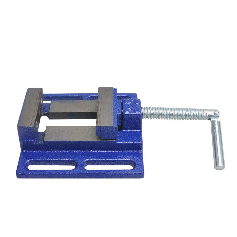 Tornillo de Banco 2.5 Mini Tornillo de Banco de Aluminio de Mesa Pinzas Planas Clamp Prensa de Taladro Vice
