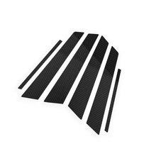 A set Pillars Column Decorative Sticker Trim For 1 3 5 series X3 X5 X6 Window Panel Exterior Carbon Style Look Accessories