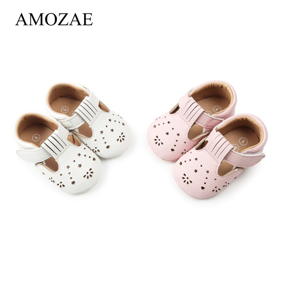 Fashion Baby Girls Shoes Cute PU Soft Bottom Baby Girl Rubber Sole Princess Shoes Toddler First Walkers Baby Shoes