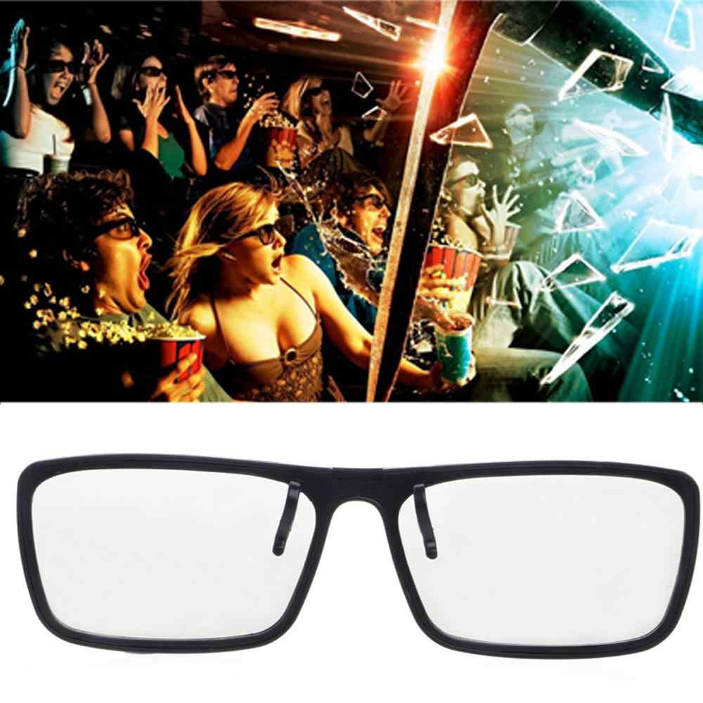 Gafas 3D polarizadas pasivas tipo Clip-On para TV Real 3D Cinema 0,22mm