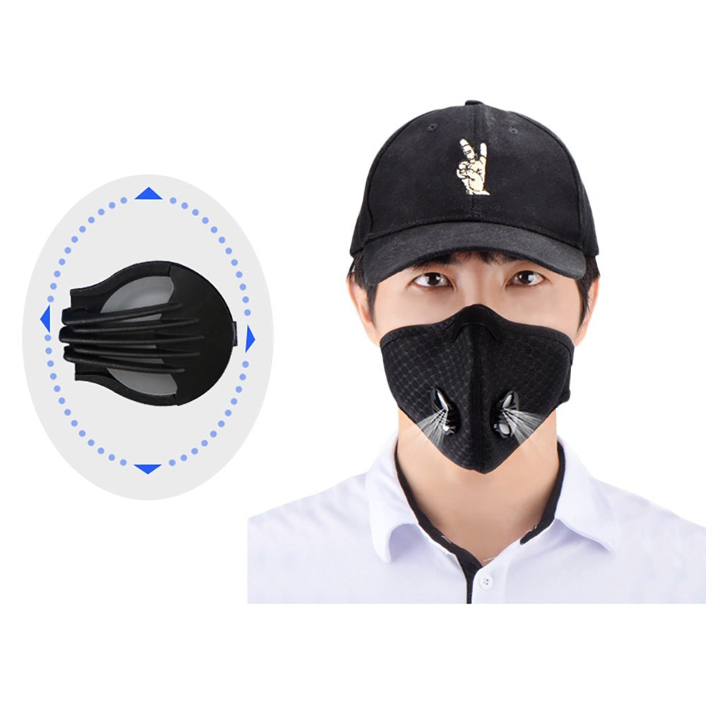 Black Unisex Anti Dust Motorcycle Bicycle Cycling Bike Ski Half Face Mask Filter Mouth-muffle Washable Black Mask On Face