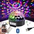 9 цветов светодиодный Bluetooth динамик диско шар светильник с MP3-плеером Выпускной лазерный вечерние светильник 18 Вт DJ сценический светильник л...