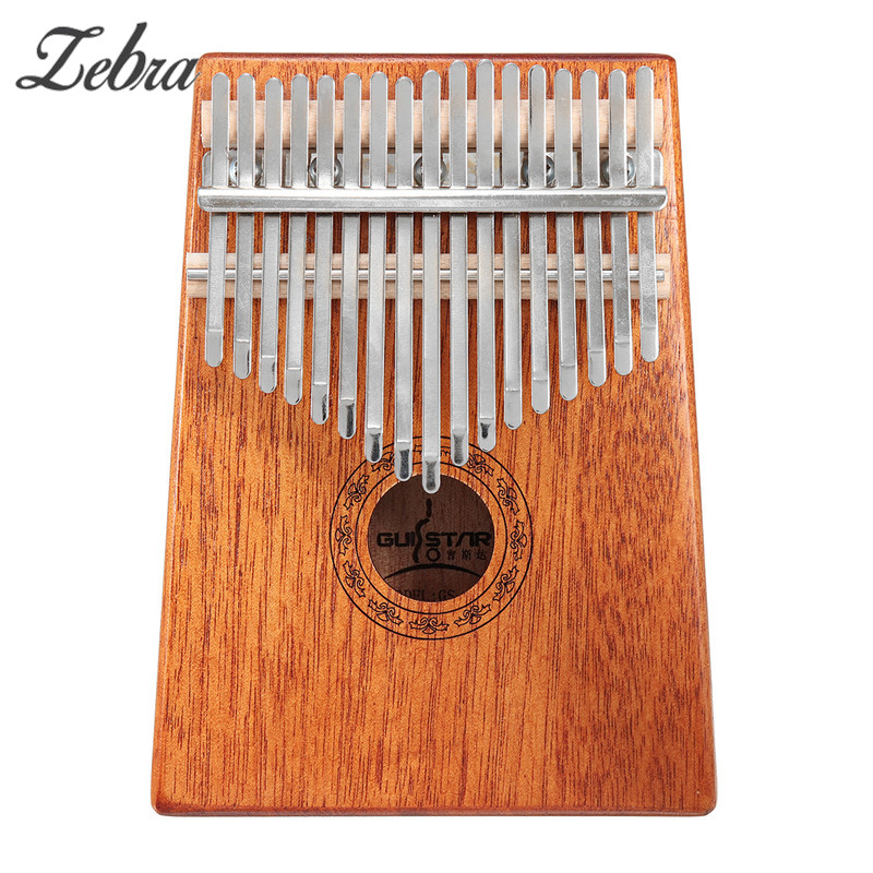 Zebra 17 Keys Kalimba Thumb Piano High-Quality Wood Mahogany Body Musical Instrument With Learning Book Tune Hammer