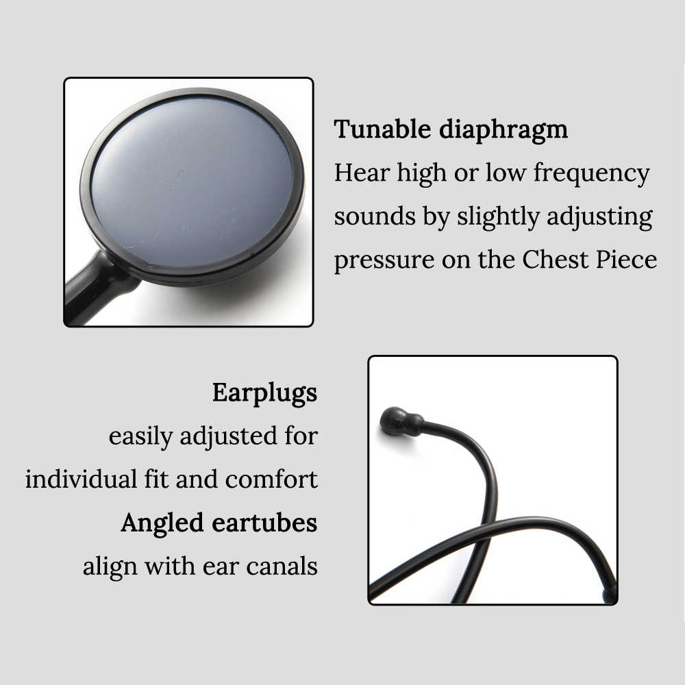 Jantung Profesional Paru-paru Kardiologi Stetoskop Medis Single Kepala Dokter Stetoskop Dokter Mahasiswa Peralatan Medis Perangkat