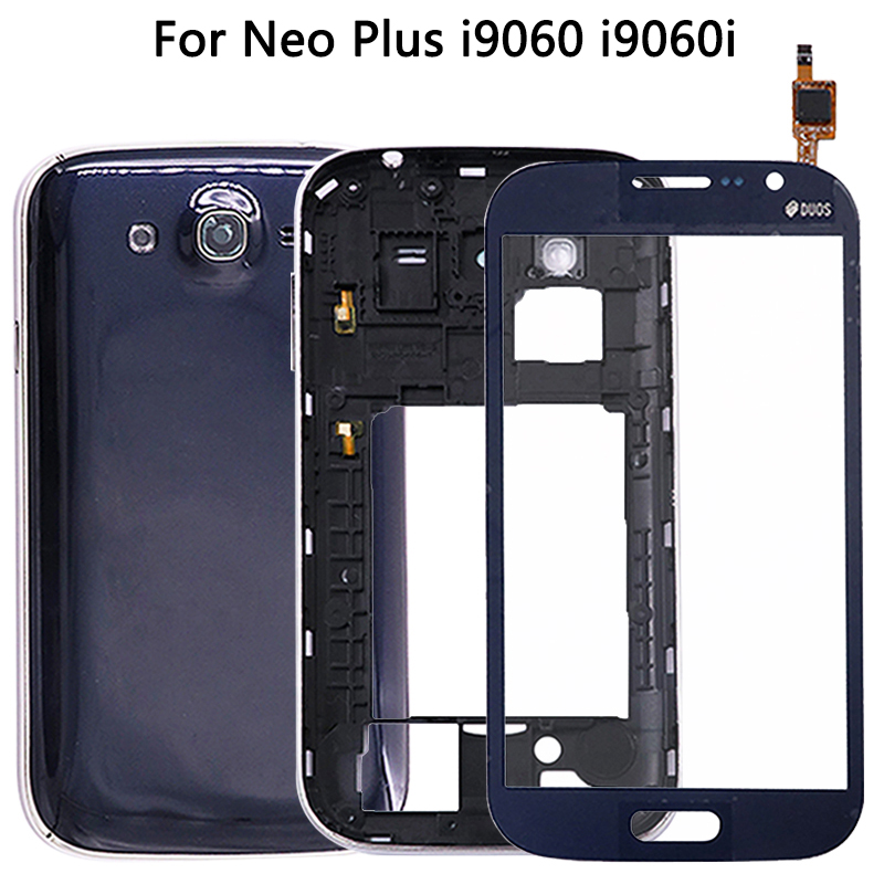 New I9060 Full Housing Cover For Samsung Galaxy Grand Neo Plus I9060i I9060 Battery Cover+Middle Frame+Touch Screen + Tools