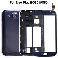 Nieuwe I9060 Volledige Behuizing Cover Voor Samsung Galaxy Grote Neo Plus I9060i I9060 Battery Cover + Midden Frame + Touch screen + Gereedschap