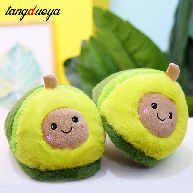 Kawaii Plush Avocado Slippers Fruit Toys Cute Pig Cattle Warm Winter Adult Shoes Doll Women Indoor Household Products size 35-43 4