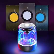 High Quality Portable Bluetooth Speaker wireless speaker  Commmunication 7 LED Colors Light Stereo Sound