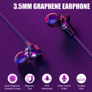 Image 3 - BlitzWolf Wired Earphone With Mic In ear Earphone 3.5mm Earphones With Microphone For Phone Stereo Earbuds For iPhone Smartphone