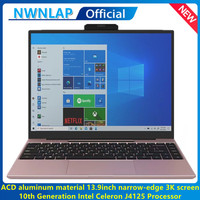 2021 NEW 13.9 Inch Intel J4125 Up to 2.7GHz Quad Core Aluminum alloy material 12GB Ram 128GB 1TB SSD Business Notebook Computer 1