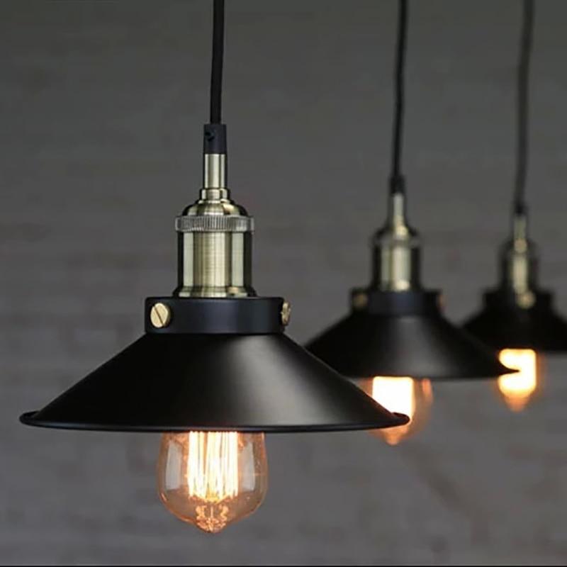 Black Vintage Industrial Pendant Light Nordic Retro Lights Iron Lampshade Loft Edison Lamp Metal Cage Dining Room Countryside Pendant Lights Aliexpress
