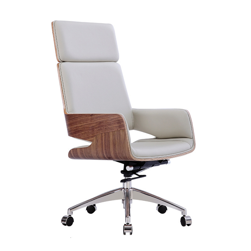 An Office Computer Swivel Chair Conference Room High Back Chair Leisure Time Household Study Exceed Fiber Leather Lift Chair