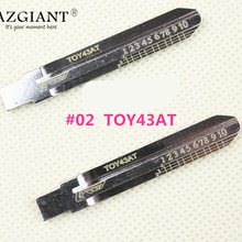 02# Engraved Line Key Scale Key Embryo 02 TOY43AT for Toyota Camry Lishi 2-in-1 scale shear teeth blank car key embryo locksmith