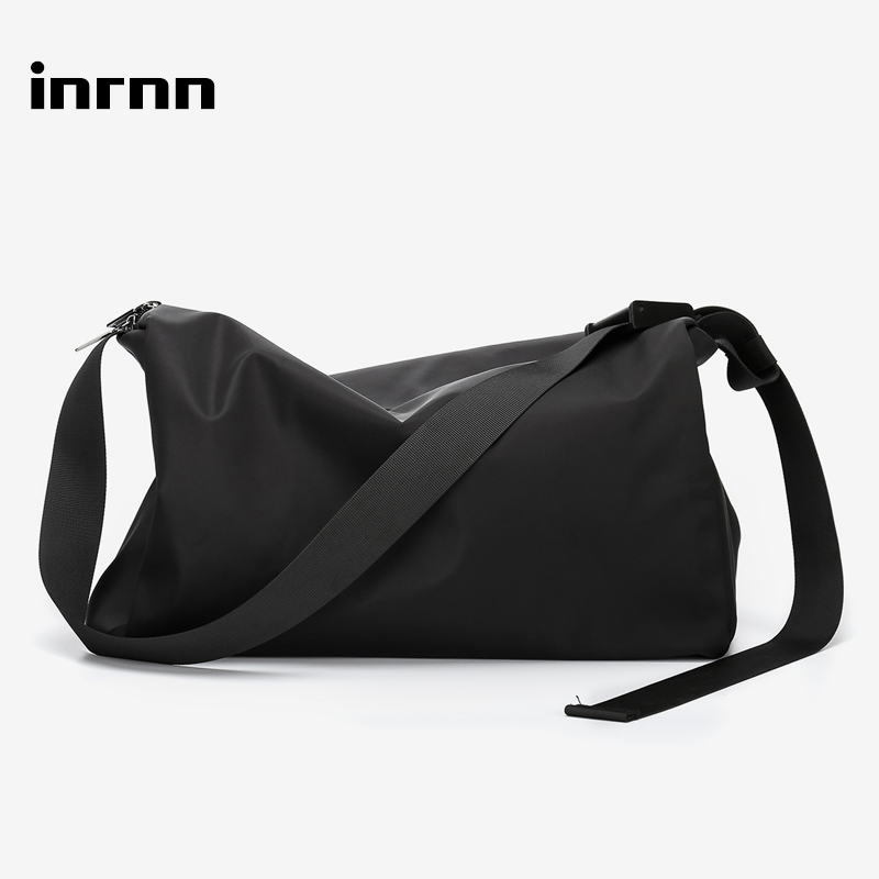 Inrnn Men Weekend Travel Bag Outdoor Sport Bags For Teenager Waterproof Male Foldable Duffle Bag Fashion Shoulder Luggage Bag