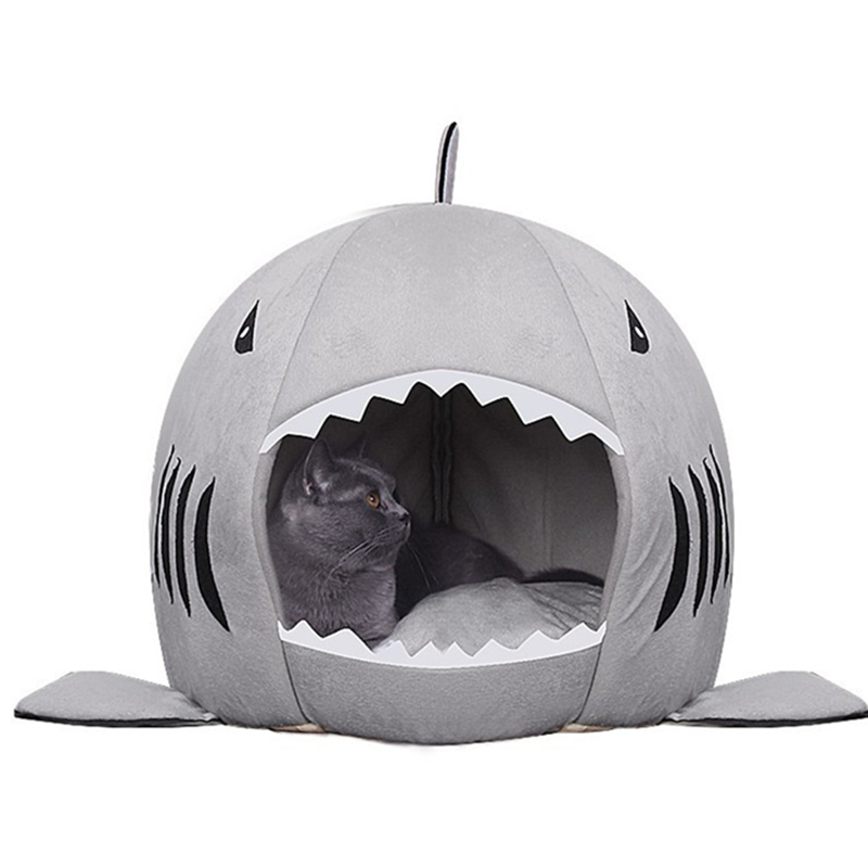 Cat's Shark Bed House Sweet Basket Dog Toys Hamster Cage Cave Accessories Pet Products Supplies
