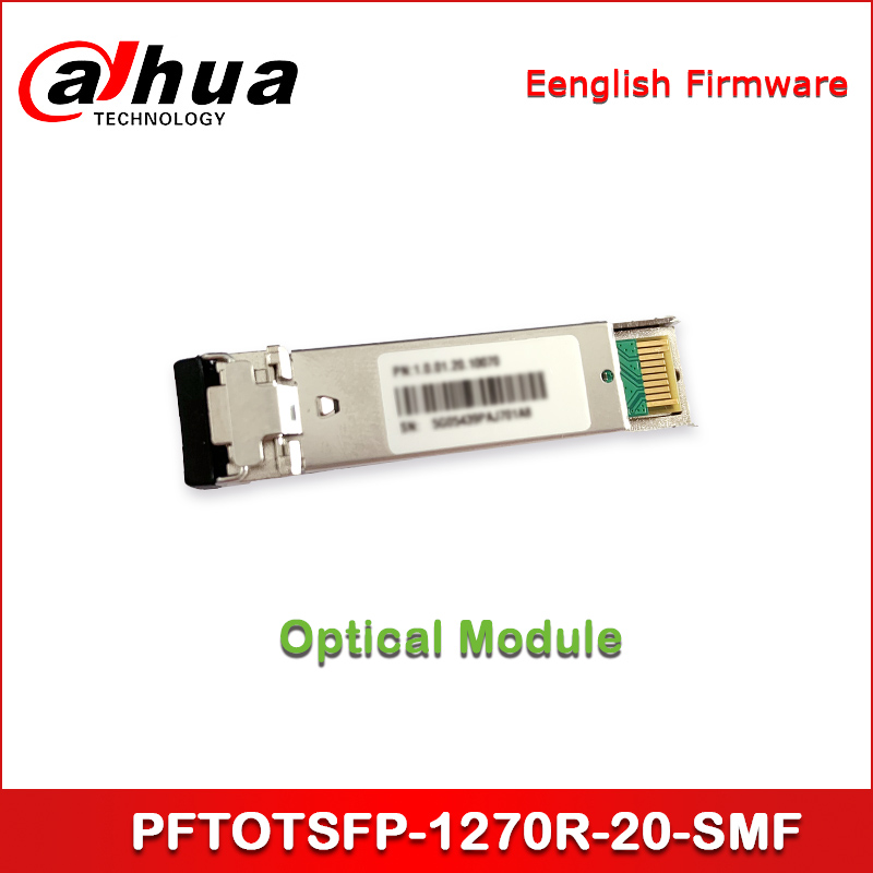 Dahua Optical Module PFTOTSFP-1270R-20-SMF SFP+-TX_1330nm/RX_1270nm-Single Fiber Bi-directional-10G-20km
