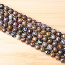Peter Stone 4/6/8/10/12mm Natural Gem Stone Polished Smooth Round Beads For Jewelry Making DIY Bracelets