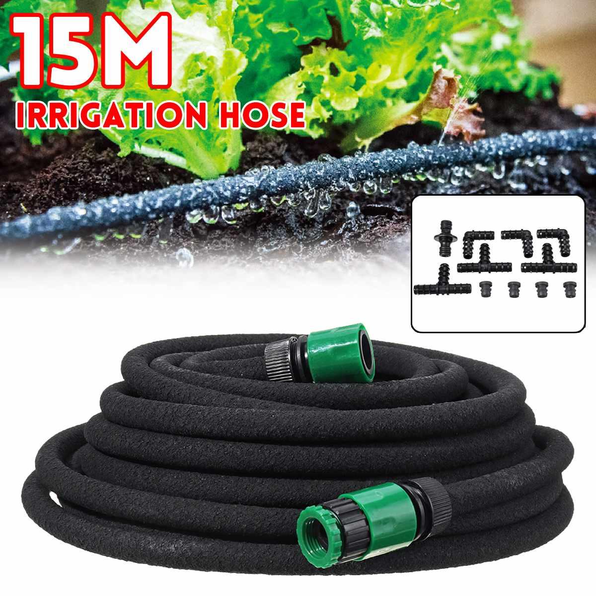 15 Meter Garten Wasser Schlauch mit Schnell Anschluss Micro Drip Beschlagen Bewässerung Schläuche Rohr PVC Schlauch Neue Schlauch