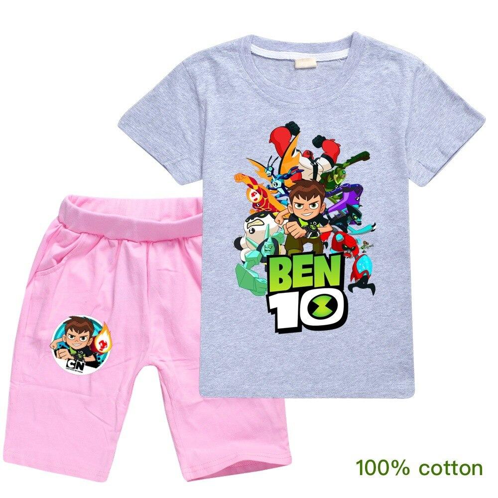 ben10 2019 Summer autumn Boys Pajamas Suits Short Sleeve Kids Pijama Children Pyjama Sets Boys Sleepwear bottom Clothing Unisex 6