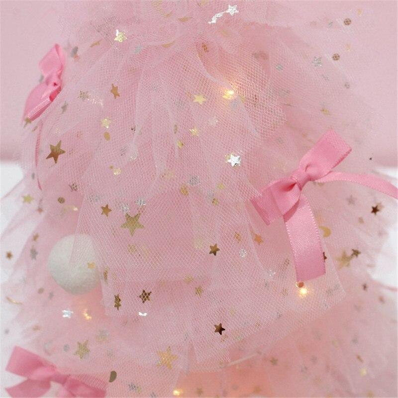 INS Girl Heart Desktop Decoration Pink Dreaming Christmas Tree Night Light Home Desktop Small Decoration Gift QW267 (2)