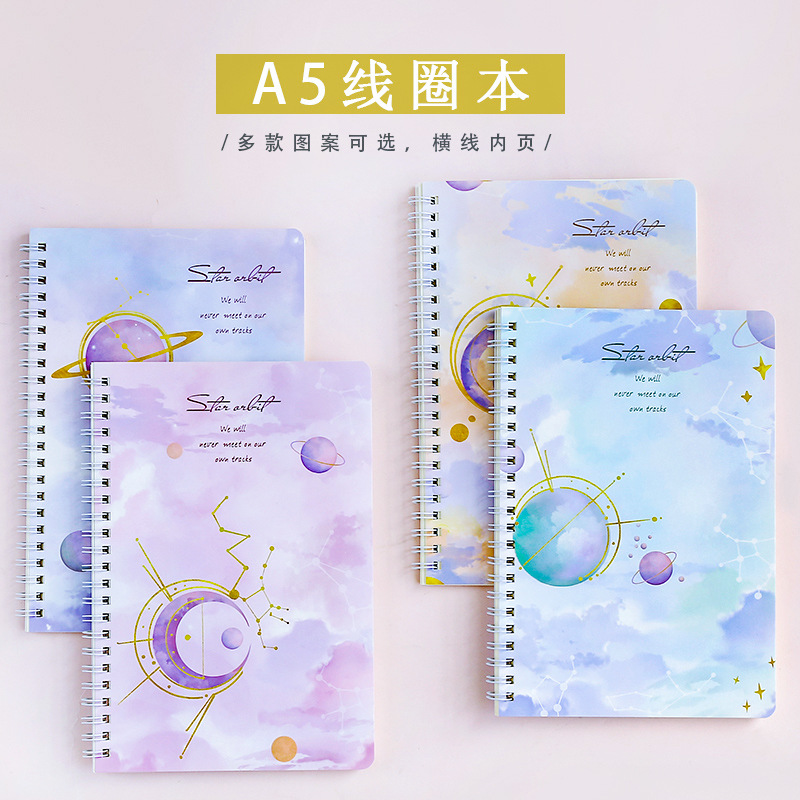 A5 Simple Thick Coil Notebook Cute Korean-style Students Hipster Creative INS Notebook