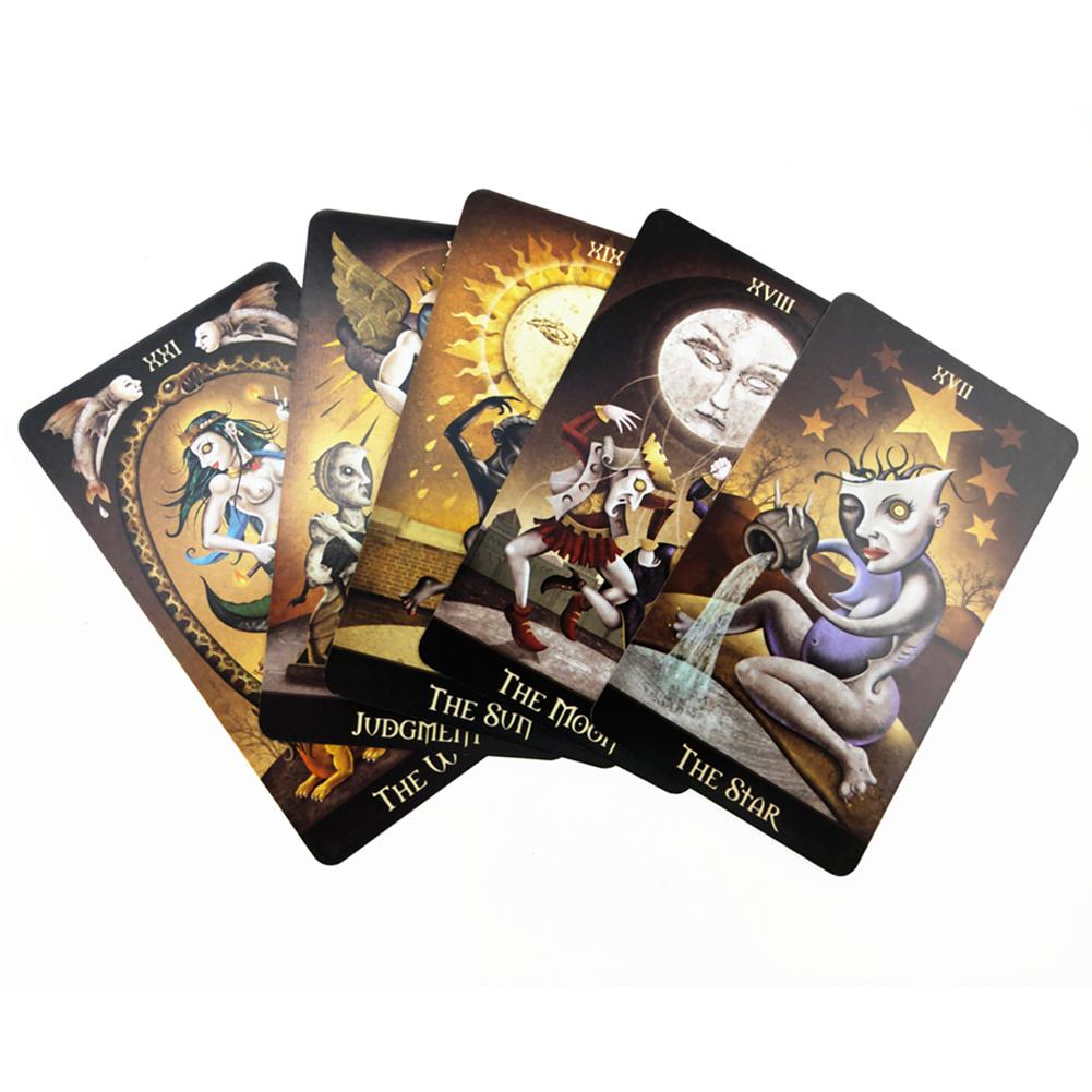 78PCS English Board Games Deviant Moon Tarot Cards Oracle Card For Family Party Cards Table Deck Game Entertainment