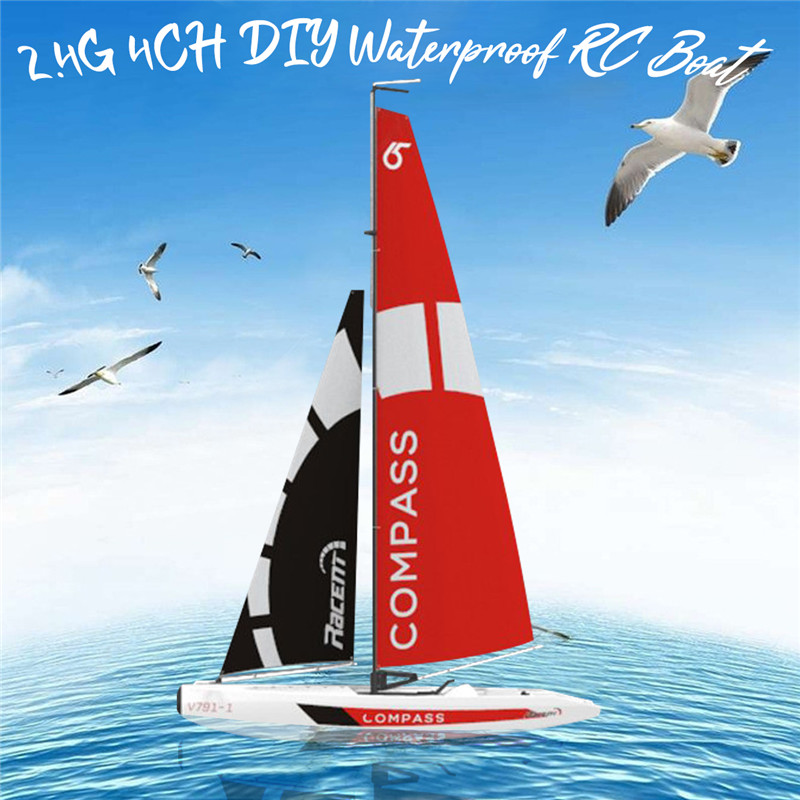 High Quality Volantexrc 791-1 65CM 2.4G 4CH Rc Boat Pre-assembled Sailboat Without Battery Toy RC Tiny Gift Present Kid Toys