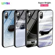 Black Cover Hockey Sport Fashion for iPhone X XR XS Max for iPhone 8 7 6 6S Plus 5S 5 SE Super Bright Glossy Phone Case black cover fashion black wolf for iphone x xr xs max for iphone 8 7 6 6s plus 5s 5 se super bright glossy phone case
