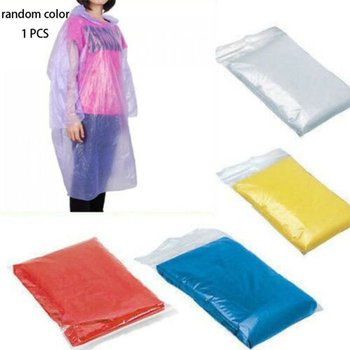 Disposable Convenient Hooded Raincoat Waterproof Emergency Rain Poncho Portable Raincoat Travel Camping Outdoor Unisex Raincoat image