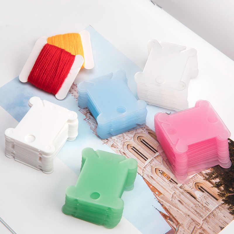 LMDZเย็บปักถักร้อยผู้ถือFloss Craft Bobbin Cross Stitchผู้ถือพลาสติกด้ายเย็บการ์ดด้ายOrganizer