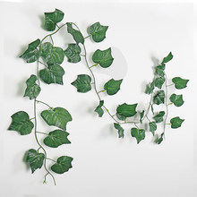 230cm Artificial Plant Wall Ivy Garland Silk Cloth Green Leaf Vine Home Garden Party DIY Wedding Decoration Fake Leaves Plants