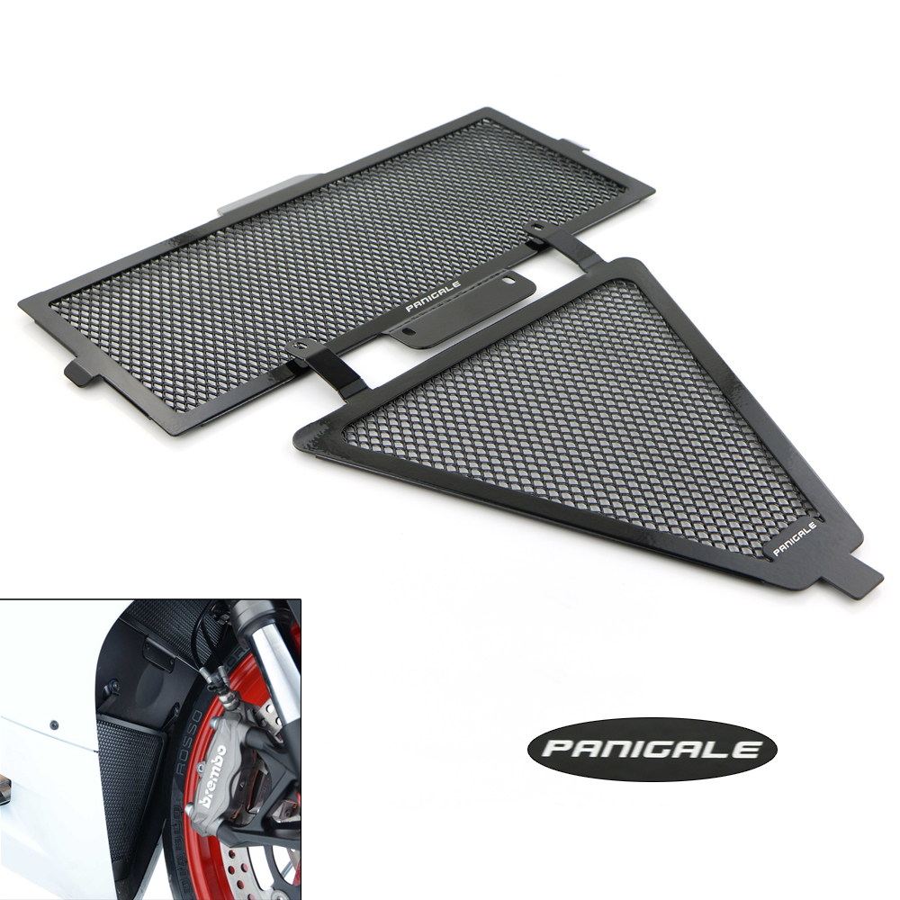 Aluminum Radiator Covers Oil Cooler Guard For DUCATI Panigale 1199 1299 959 899 Radiator Guard Cover