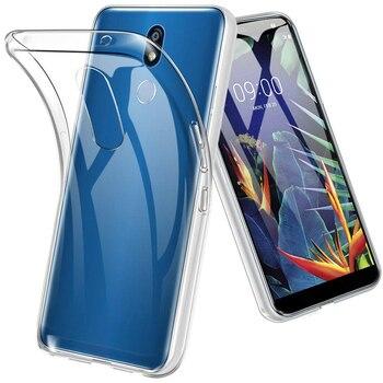 Silikonowe etui ochronne dla LG K40/K12 Plus/X4 2019 miękka TPU przezroczysty telefon powrót powłoki LGK40 K12Plus X42019 przezroczysty żel
