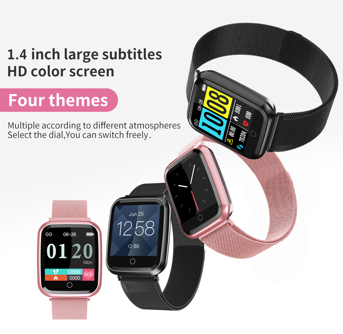 DAROBO N99 Sport and Heart rate monitor Smart watch with Waterproof Blood pressure monitor for men women available in Android IOS 9