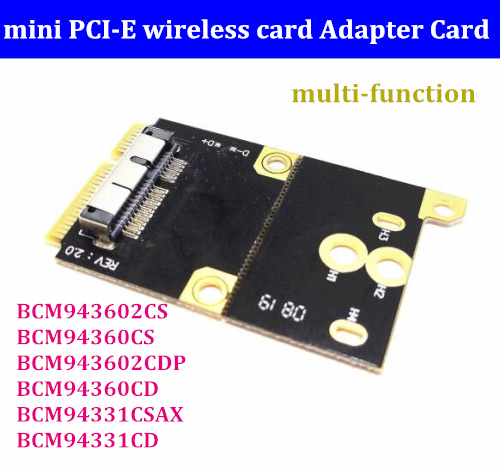 5Pcs Wireless Wifi Mini PCI-E Half To Full Size Card Bracket Adapter+20 Screw GX