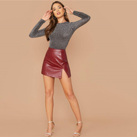 Bodie glitter primaveracintura media cuello redondo abertura trasera bodysuits 5