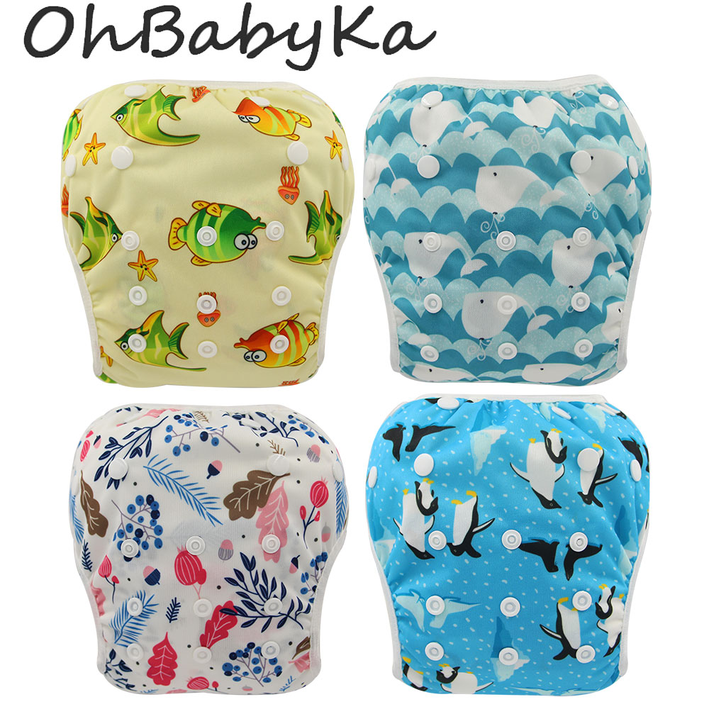 Baby Infant Swim Nappies Reusable Newborn Swimwear Cute Baby Swimsuit Brand Baby Bathing Suit Adjustable Swim Diapers For Babies