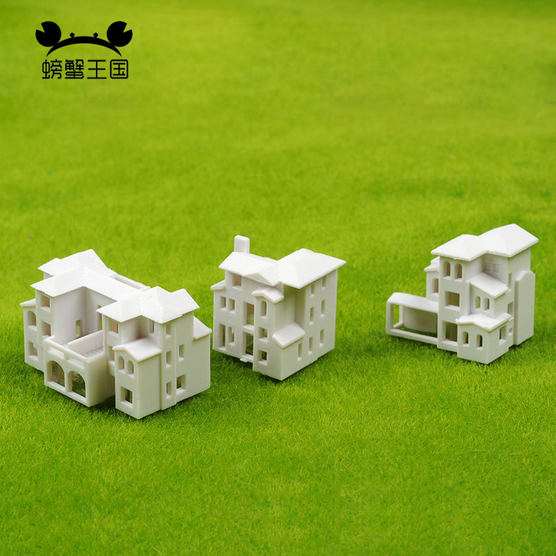 1pcs 1/500 1/800 HO Scale DIY Model Buildings Villa Train Scene Model Making Materials Plastic Real Estate Train Kits