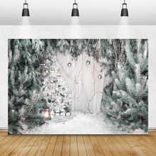 Laeaccoクリスマス背景松雪の冬の写真撮影の背景家族ベビー肖像photocallのための写真スタジオの小道具