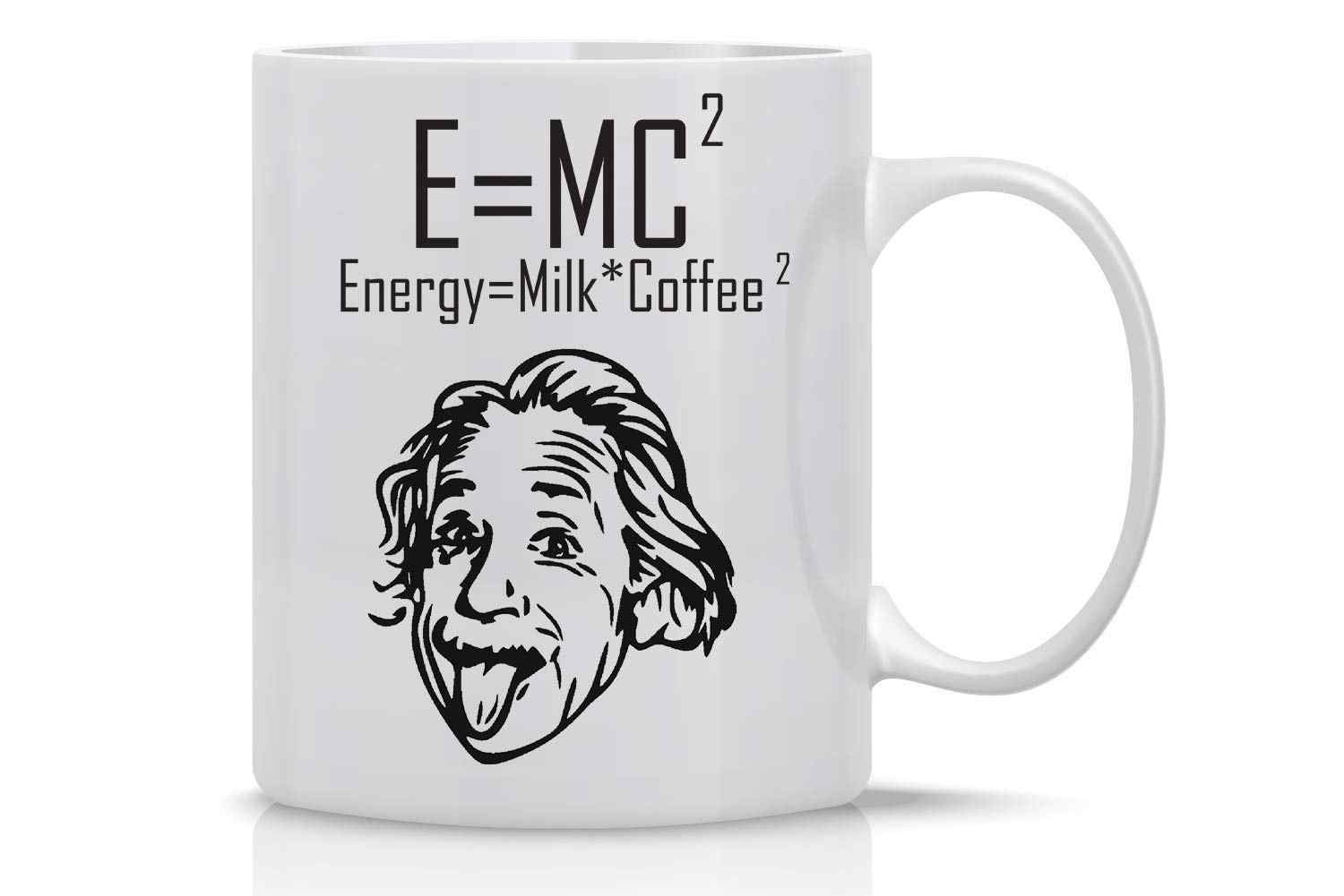 Lucu Coffee Mug 11 Oz E = MC2 Energi = Einstein Mug