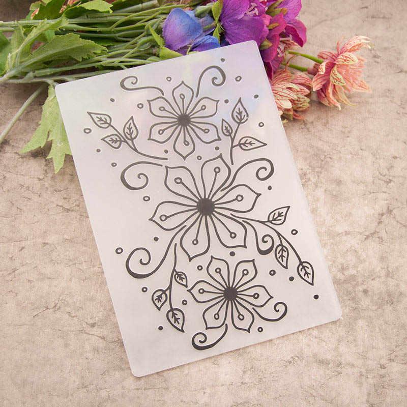 1 ชิ้น Embossing โฟลเดอร์ DIY กระดาษการ์ด Craft Card stencil สมุดฝากข้อความแม่แบบพลาสติกโปร่งใสแสตมป์งานแต่งงาน Decor