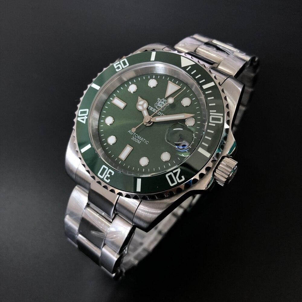 Сталь погружения SD1953 Керамика ободок 30ATM Водонепроницаемый Профессиональный Нержавеющаясталь Сталь автоматический Для мужчин Diver подвод...