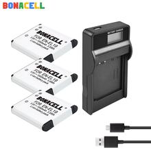 цена на Bonacell ENEL19 EN-EL19 for Nikon Battery + LCD Charger for Nikon Coolpix S32 S33 S100 S2500 S2750 S3100 S3200 S3300 S3400 S3500